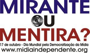 Adesivo de campanha feita pelo Diretório Acadêmico de Comunicação da UFMA (do qual tenho orgulho de ter feito parte) em 2003.