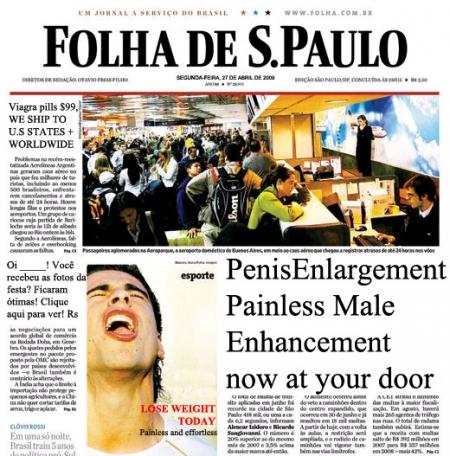 Spam na Falha de São Paulo