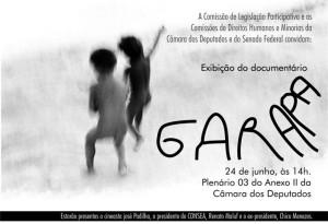 """""""Garapa"""" na Câmara, 24/6, 14h, plenário 2 do Anexo II"""