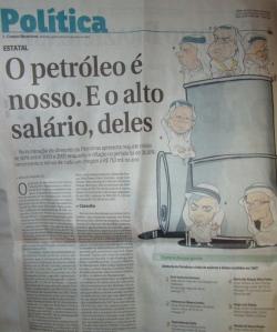 """Correio, defensor do livre mercado, """"denuncia"""" que diretores da Petrobrás, quen ganha, em média 3% do que ganham seus concorrentes na Exxon, têm altos salários..."""