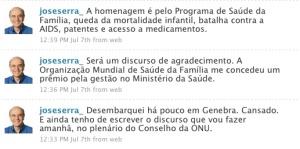 Twitter de José Serra, o mitômano