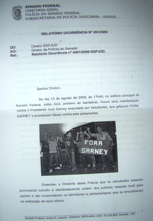 Relatório da Gestapo do Senado