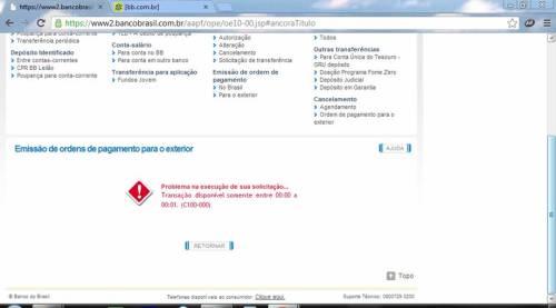 Incompetência do Banco do Brasil