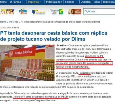 Site do PSDB: cinismo em estado puro