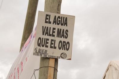 """""""A água vale mais do que o ouro"""" (Foto: Rogério Tomaz Jr.)"""