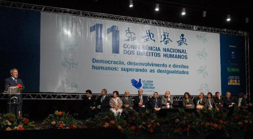 Lula na abertura da 11ª Conferência Nacional dos Direitos Humanos (Foto: Wilson Dias/Agencia Brasil)