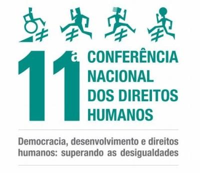 Logo da 11ª Conferência Nacional dos Direitos Humanos