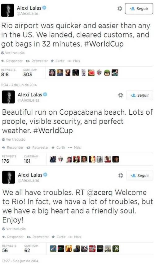 Alexis Lalas elogia aeroporto do Rio
